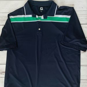 FootJoy Golf Polo Short Sleeve Shirt Navy Blue